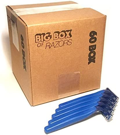 60 Box of Razor Blades Disposable Premium Stainless Max 89% OFF Be super welcome Steel Hospit