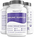 Immune Support w/Vitamin C and Zinc, Vitamin D3, Elderberry, Quercetin, Glutathione and Echinacea, Natural Immune Booster and Herbal Supplements, Vegan, Gluten Free (60 ct) VitaminIQ
