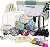 Candle Making Kit Supplies, DIY Scented Candles Gift Set for Women Candle Art and Craft Supplies Full Starter Set with Beeswax, Fragrance Oil, Cotton Wicks, Candle Pigment, Tins and More