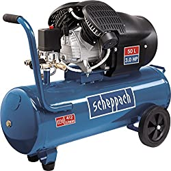 Scheppach compressor HC53DC (2200 Watt, 50 L, 10 bar, suction power 412L / min, pressure reducer, oil lubricated, double cylinder)