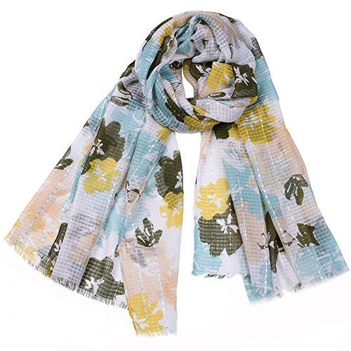Dhmm123 Bufandas cálidas Bufandas para Mujer Ligero Color sólido Otoño Invierno Moda Bufanda a Cuadros (Color : Blue, Size : OneSize)