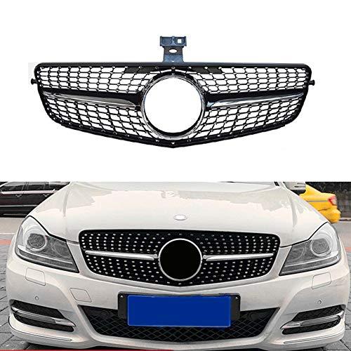 ASDNN Parrilla De Parachoques Delantero De Coche Rejilla De Estilo Diamante para Benz Clase C W204 C180 C200 C300 2008-2014
