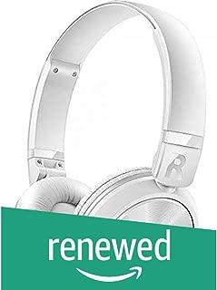 (Renewed) Philips SHB3075WT/00 Wireless On-Ear Headphones with Mic (White)