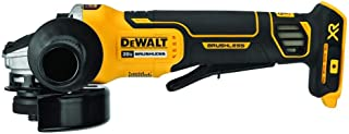 "DEWALT DCG413B 20V XR بدون برش 4.5 ""زاویه ای جارو برقی، Baretool"