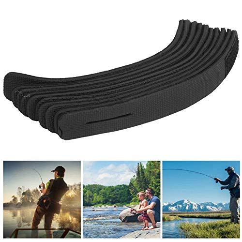 Gind Cinturones de caña de Pescar, 10 Cinturones de caña de Pescar antidesgaste, Antideslizantes para el hogar, Barco al Aire Libre, Poste de fijación de Pesca
