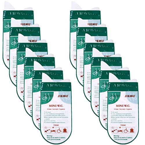 MeiMeiDa 12 PCS/Set Portable Disposable Urine Bags Pee Bags Emergency Car Toilet for Camping Travel Traffic Jam Inpatients Men Women Children Brief Relief Sickness Vomit Green