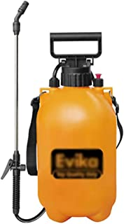 Pulverizador a presión de acción de la Bomba de 5 l, Botella con atomizador Pulverizador Amarillo Aspersor de Mochila Weed Killer Garden