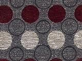 Möbelstoff Stage Point 4058 (rot, dunkelrot, braun, grau,