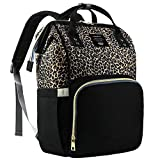 Diaper Bag Backpack, Diaper Bags for Baby Girl, Leopard Diaper Backpack Baby Bag