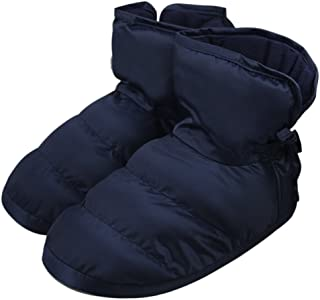JIAHG Unisex Insulated Thick Warm Slippers Booty Winter Quilted Down Snow Ankle Boots