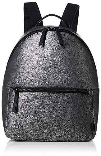 ECCO Damen Backpack SP 3, Rucksack, schwarz/silber, Einheitsgröße