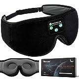 Boodlab Sleep Headphones Bluetooth Sleep Mask, 3D Sleep Eye Mask with Ultra-Thin HD Stereo Speakers Washable Adjustable for Sleeping Side Sleepers, Air Travel,Yoga,Meditation,Holiday