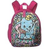 JKSA Mochilas Escolares Dumbo para niñas, niños, niños, Bolsas de Escuela Primaria, Mochila, Mochila de Viaje al Aire Libre