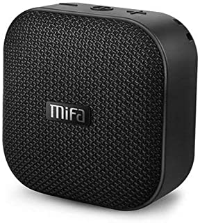 Bluetooth Speakers, MIFA A1 Portable Wireless Soundbox, IP56 Dustproof Waterproof, 12-Hour Playtime, Built-in Mic, TF Card Slot, Loud DSP Sound Enhanced Bass, Woven Fabric Black