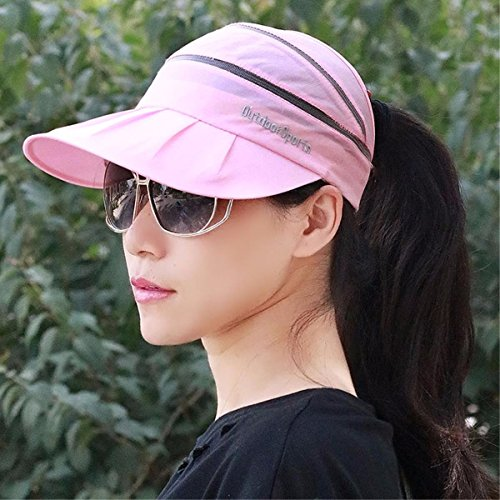 XINQING-MZ Homme et Femme Generic vide Chapeau haut-de-forme Fast Dry Cap Chapeaux de plage Chapeaux sont Cool, respirant Casquette Couple capuchon extérieur Casquette de cyclisme Grande Code, rose