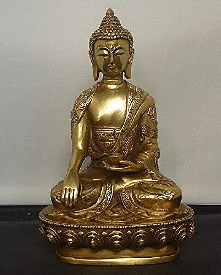 汚染された定規気性チベットチベット仏教shakyamuniブロンズ仏像