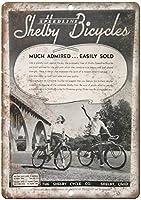 スピードラインシェルビー自転車ブリキ看板壁の装飾金属ポスターレトロプラーク警告サインオフィスカフェクラブバーの工芸品