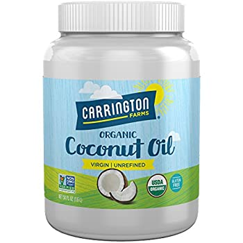 Carrington Farms Gluten Free Unrefined Cold Pressed Virgin Organic Coconut Oil 54 oz  Ounce  Perfect Coconut Oil For Skin & Hair Care Cooking Baking & Smoothies