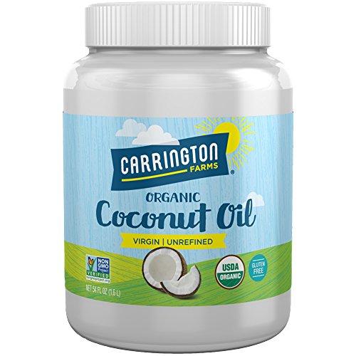 Carrington Farms Gluten Free, Unrefined, Cold Pressed, Virgin Organic Coconut Oil, 54 oz....