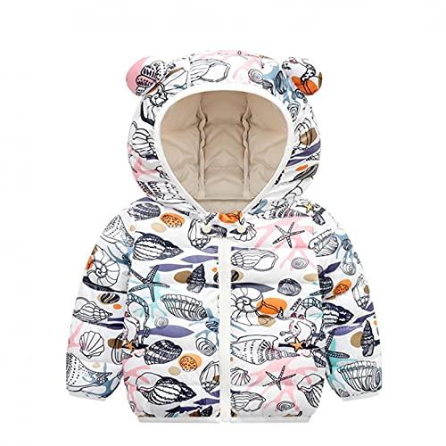 YWLINK Abrigos De Invierno Para NiñOs BebéS NiñAs Lindo Estampado De Dibujos Animados Orejas De Oso Con Capucha Chaquetas Acolchadas Ligeras Prendas De Vestir Exteriores Para BebéS