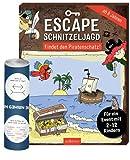 Collectix Escape SchnitzelJagd – Busca el tesoro pirata (para un evento con 2 – 12 niños) + 1 póster de ilusión óptica
