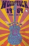 Official - Woodstock 1969 (Festival) Konzert-Poster (30,5 x