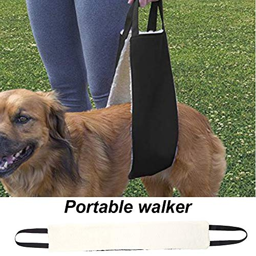 Portable Dog Sling for Back Legs,Rehabilitation Sling Harness, Dog Lift, Walking Pet Support Assist Tool Dog Harness Hip Support Harness to Help Lift Dogs Rear for Canine Aid