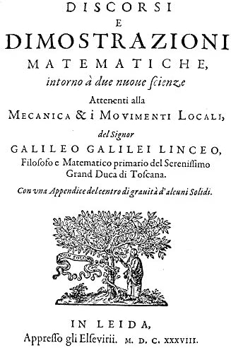 Galileo Discorsi 1638 Ntitle Page Of The First Edition Of Galileo GalileiS Discorsi Due Nuove product image