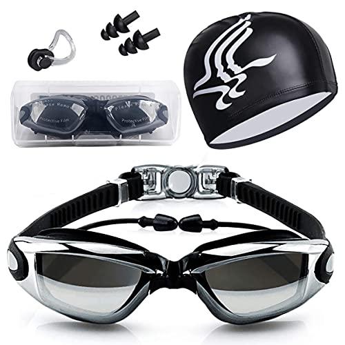 Gafas de Natación, Antiniebla Protección UV Sin Fugas Gafas Natación con Libre Clip de Nariz...