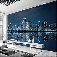 Xbwy 装飾壁画壁壁画壁紙夜景シティビルディング壁紙リビングルーム家の装飾-200X140Cm