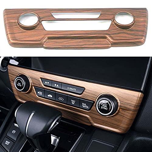 Pursuestar for Honda CRV CR-V 2017 2018 2019 2020 2021 Peach Wood Center Console CD Panel Air Conditioner Cover Trim Button Knob Moulding Car Interior Accessories -Medium Configuration