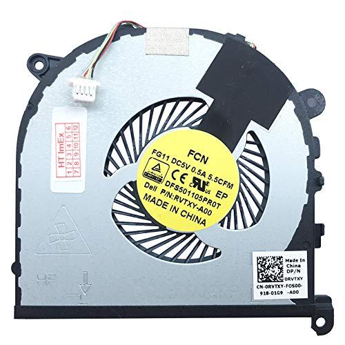 (CPU Verison) Fan Cooler Compatible with DELL XPS 15 (9550-4938), 15 (9550-5187), 15 (9550-4945), 15 (9550-4952), 15 (9550-4969), 15 (9550-4521), 15 (9550-5170), 15 (9550-4853), 15 (9550-8P49T)