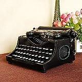 HELLOO HOME Retro Vintage Machine à écrire Mécanique Machine à écrire Anglais Affichage Props Modèle À La Main Bar Décoration Confortations À Domicile