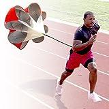 StillCool Running Speed Training 56 inch Speed Drills Resistance Parachute Running Sprint Chute Soccer Football Sport Speed Training (Red)
