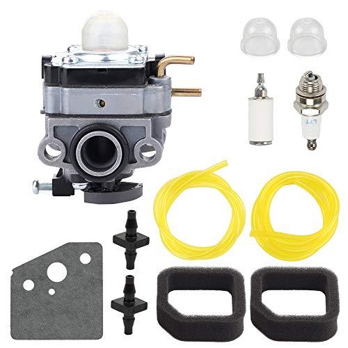 Wellsking RY252CS Carburetor for Ryobi RY253SS RY254BC 2 Cycle 25cc Gas String Trimmer Carb Replace 753-06258A 753-06258