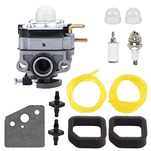 Wellsking RY252CS Carburetor for Ryobi RY253SS RY254BC 2 Cycle 25cc Gas String Trimmer Carb Replace 753-06258A 753-06258