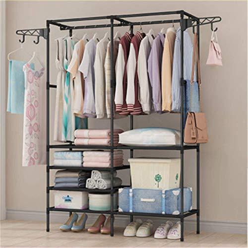 TEET Perchero para ropa, 108 x 36 x 170 cm, estante de almacenamiento para ropa, soporte de ropa, armario, organizador para casa, oficina, interior