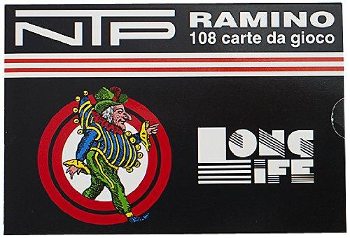 NTP 00010 - Ramino Long Life Carte da Gioco, Blu/ Rosso