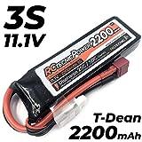 RC TECNIC ⚡ Batería LiPo 3S 2200mah 11.1V 25C - 50C Para Radiocontrol Con Conector T DEAN...