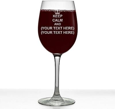 Personalized Stemmed Wine Glass (Keep Calm YTH)