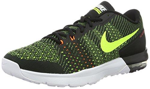 Nike Herren AIR MAX TYPHA Sneakers, Schwarz (Black/Volt-Total Orange-White), 47.5 EU