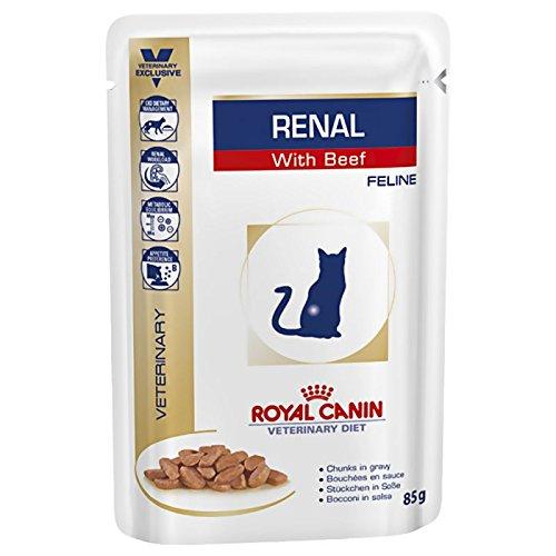 Royal Canin Renal, Spezialkatzenfutter mit Rindfleisch, bei Nierenproblemen,48x 85g.
