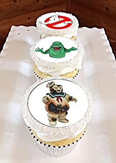 12 Edible GHOSTBUSTERS Cupcake toppers, Ghostbusters birthday, ghostbusters party