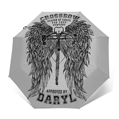 The Walking Dead Armbrust zugelassen von Daryl Winddicht, kompakt, automatisch, faltbar, Reise-Sonnenschirm