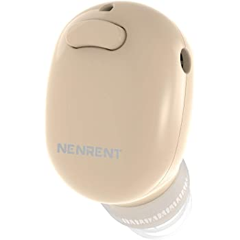 NENRENT S570 Bluetooth Earbud,Smallest Mini Invisible V4.1 Wireless Bluetooth Earpiece Headset Headphone Earphone with Mic Hands-Free Calls for iPhone iPad Samsung Galaxy LG HTC Smartphones 1pcs(Nude)
