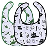 Littleforbig Big Sized Bib 2 Packs - Dinosaurs and Halloween