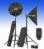 Equipo completo para fotografía de estudio - 2 D-Lite RX One + 2 Cajas de luz + 2 Trípodes + Transmisor El-Skyport + Bolsas de transporte