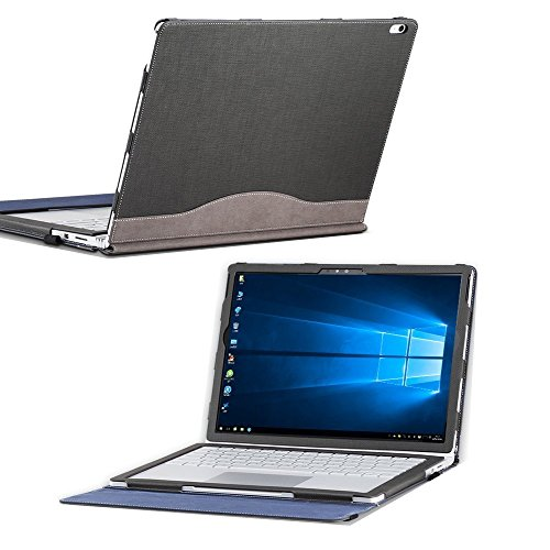 Microsoft Surface Book 2 13.5 inch Laptop Sleeve Tablet Folio Case Detachable Cover 2/1 Grey