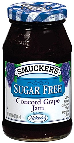 Smucker s Sugar-Free Concord Grape Jam, 12.75 oz (Pack of 6)