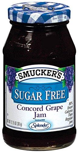 Smucker s Sugar-Free Concord Grape Jam, 12.75 oz (Pack of 6)
